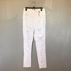 NWT Fashion Nova White High Rise Skinny Jeans s 17
